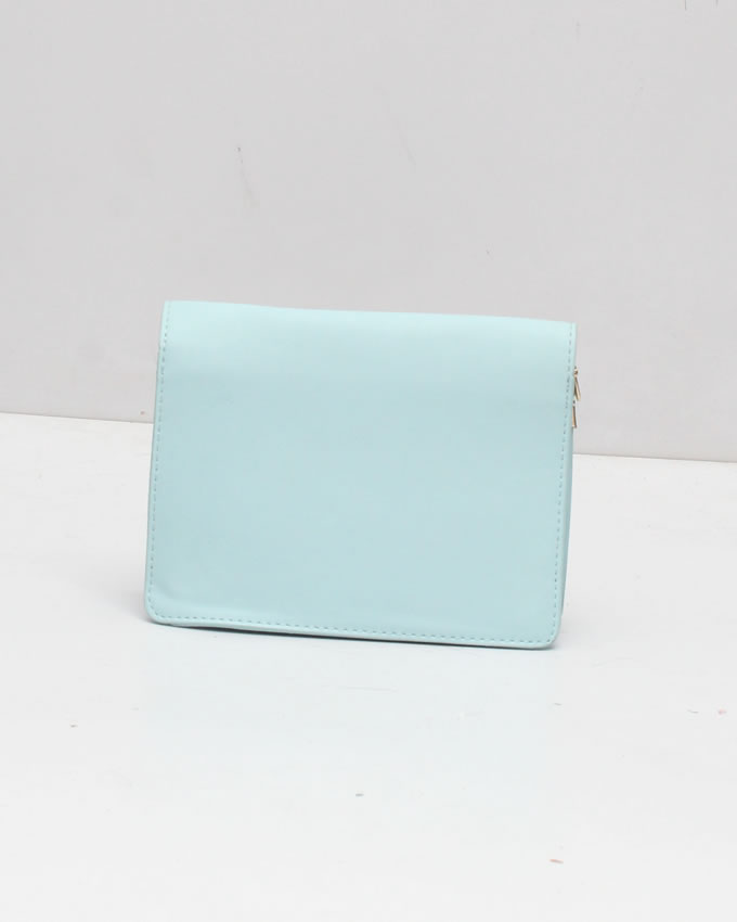 8648fc4eab1a Buy Embroidered Blue Leather Clutch Purse A600 online at t4trendz ...
